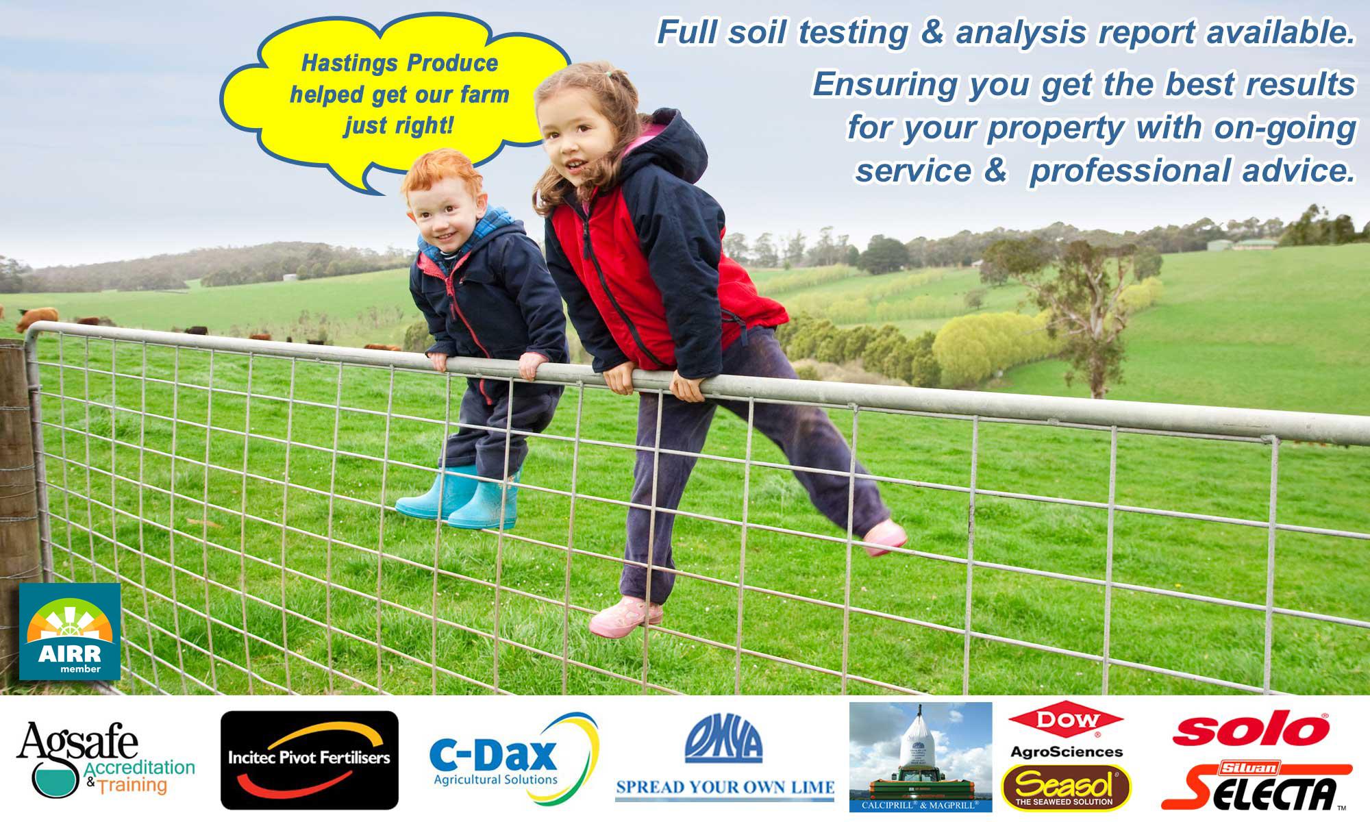 Hastings Produce - Kids on Farm Gate and Farm Fence